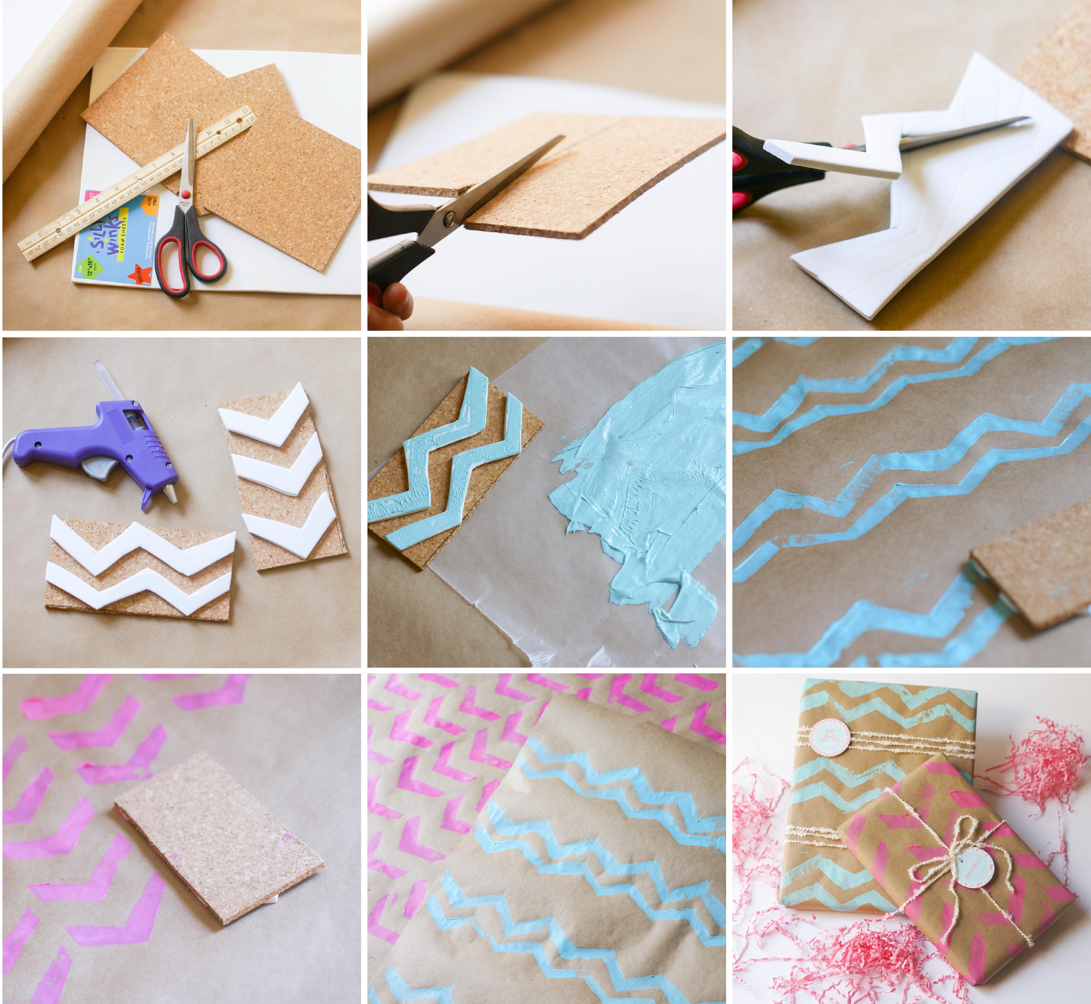 Ruff Draft Diy Chevron Wrapping Paper Stamp