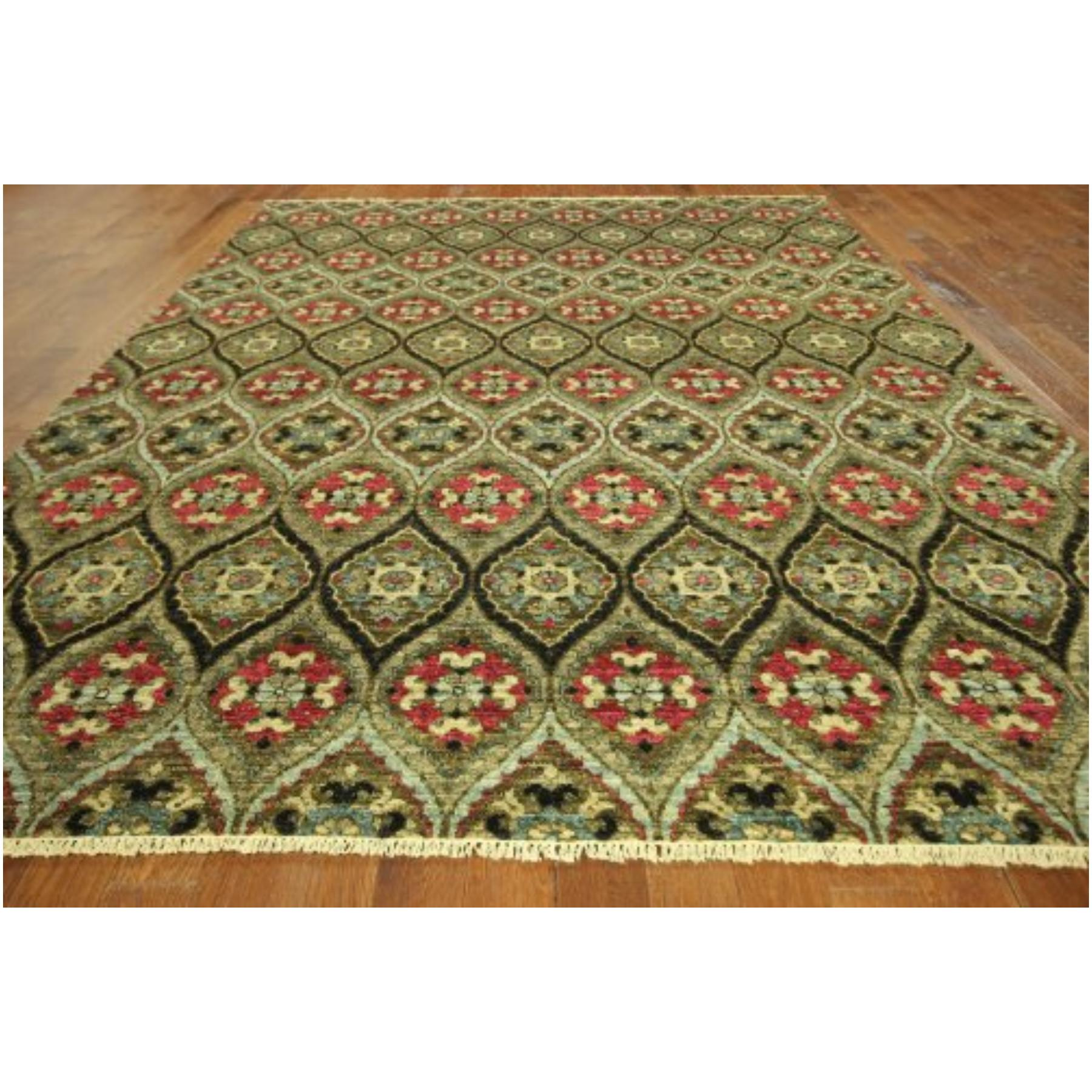 Rug New Exquisite High End Oriental Ikat Hand