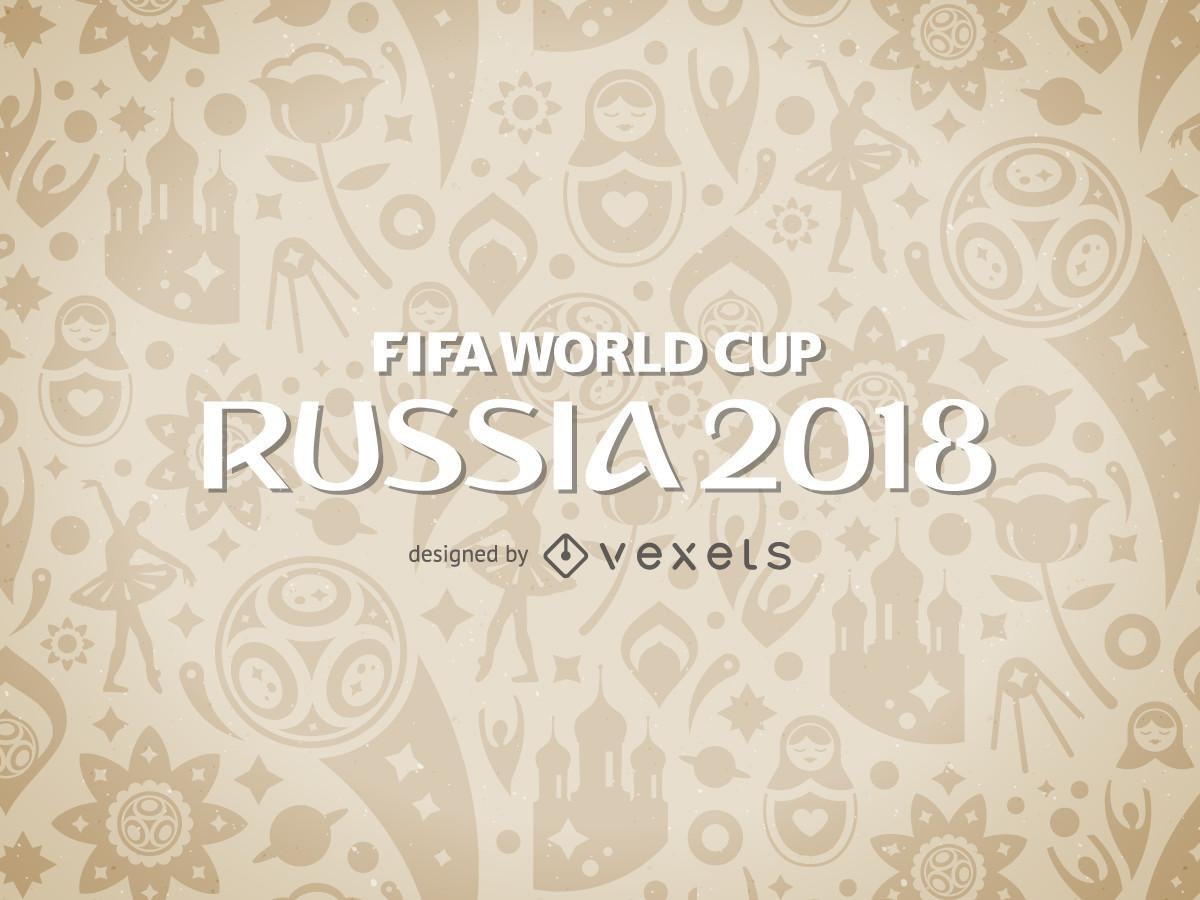 Russia 2018 World Cup Pattern Vector