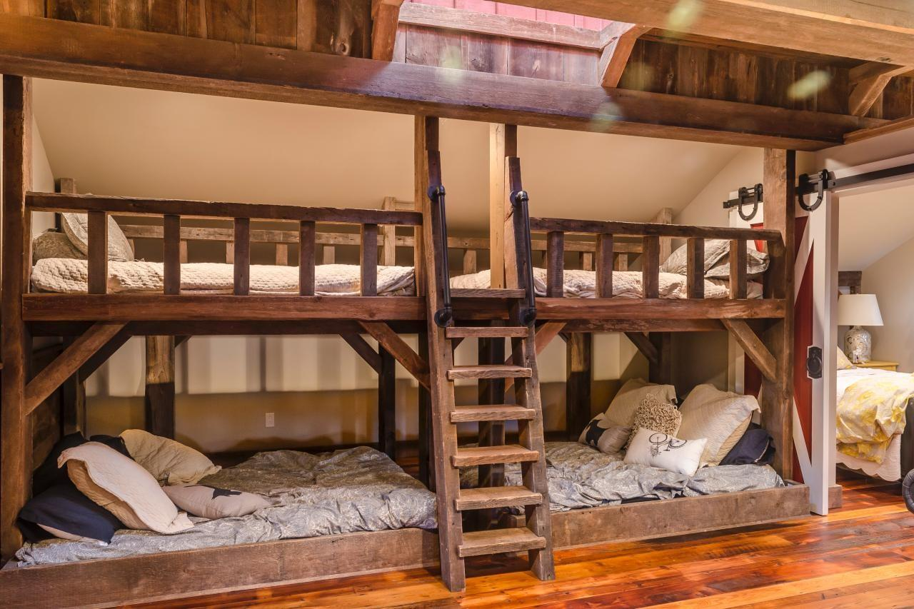 Rustic Barn Bunk Bed Skylight Slumber Party Your