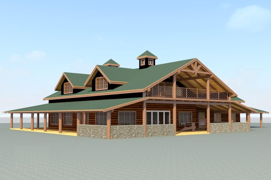 Rustic Barn House Plans Cottage