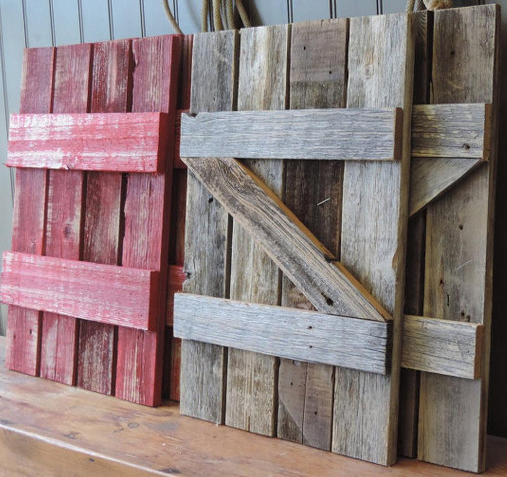 Rustic Barn Wood Shutters Our