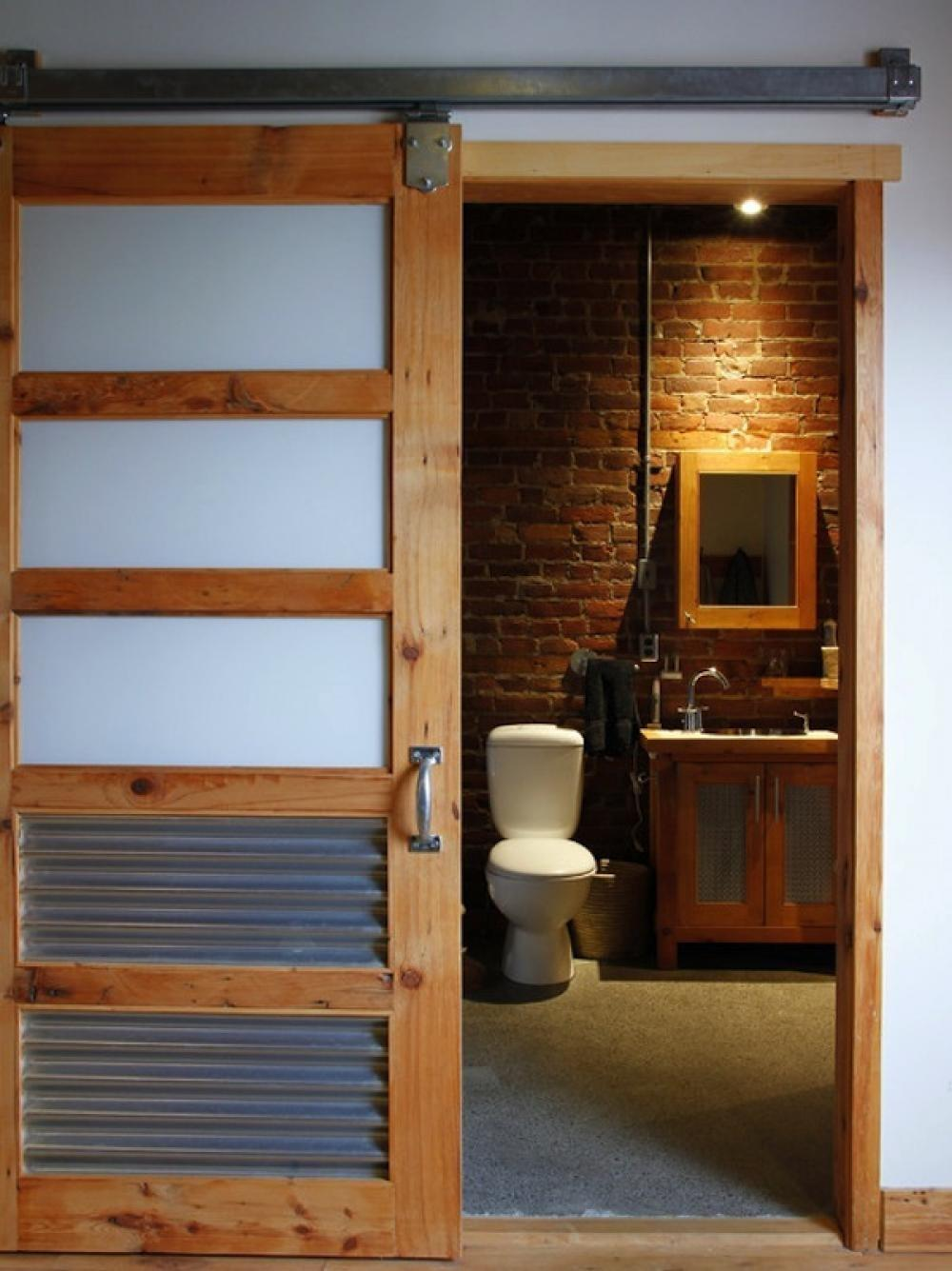 Rustic Bathroom Door Design House Decobizz