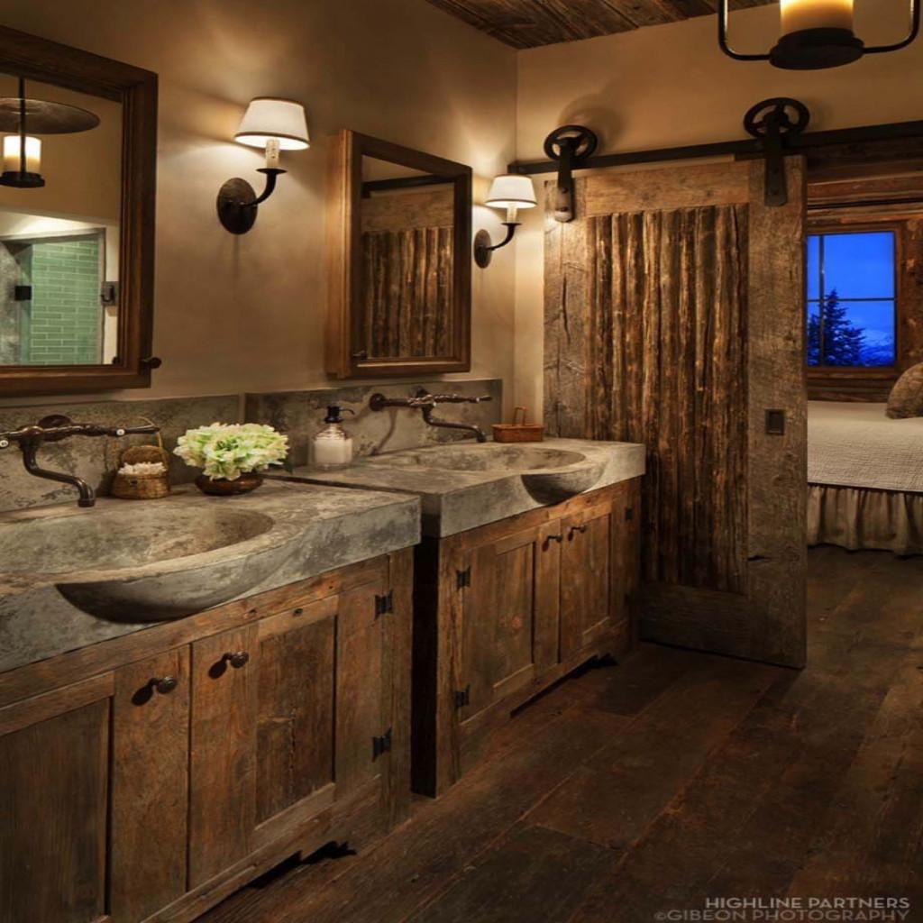 Rustic Bathrooms Pertaining Warm Comfortable Home