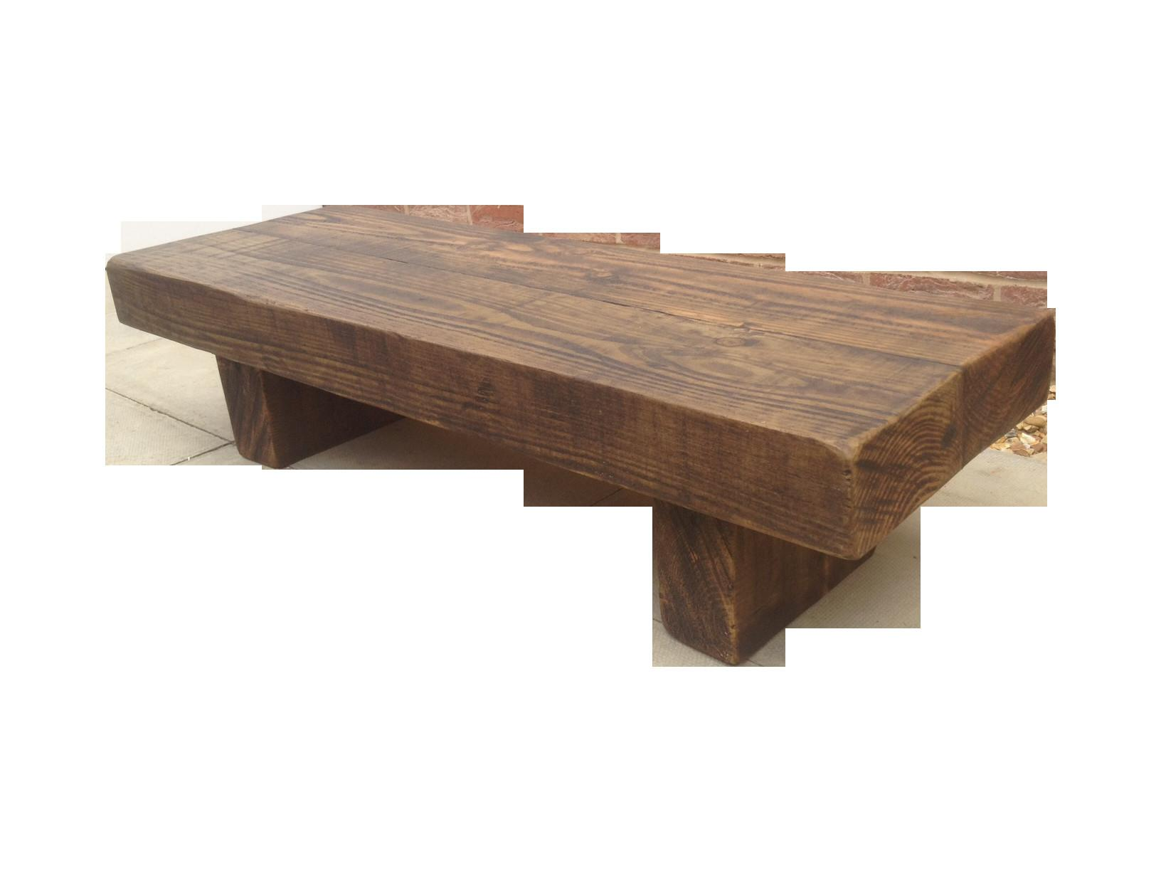 Rustic Beam Bench Coffee Table Ely Furniture