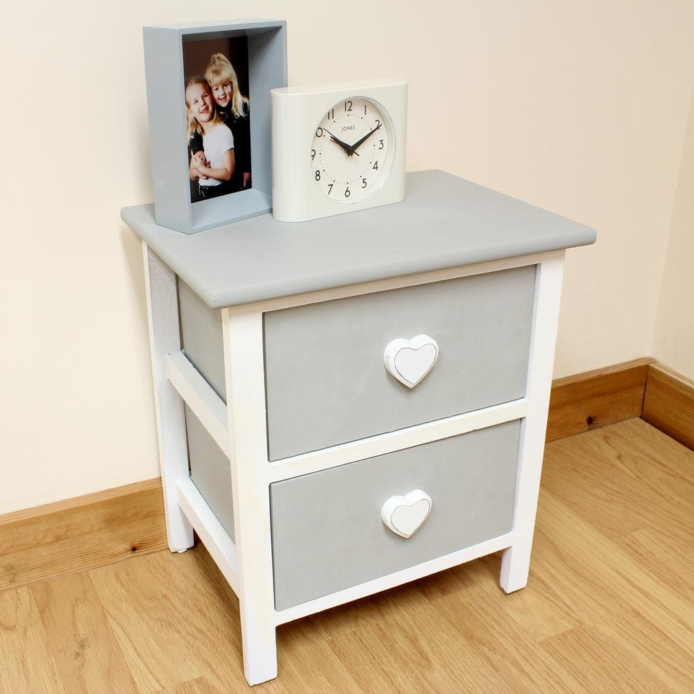 Rustic Bedside Girls Childrens Kids Table Drawers