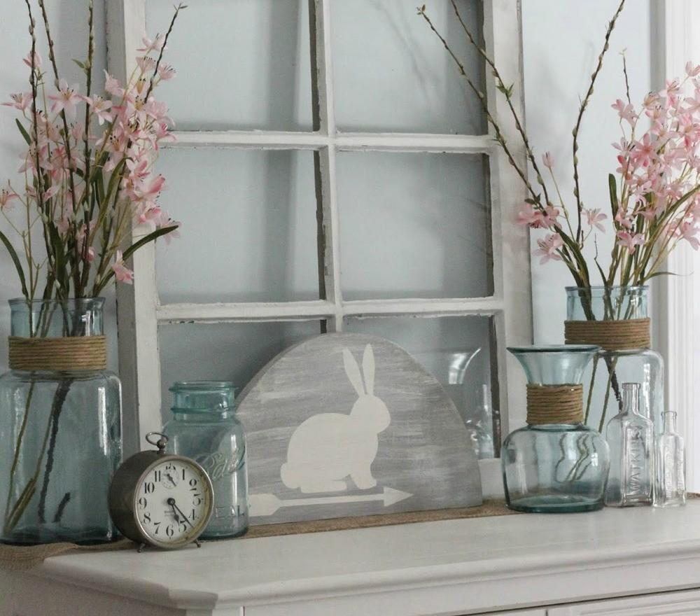 Rustic Bunny Easter Decoration Allfreeholidaycrafts