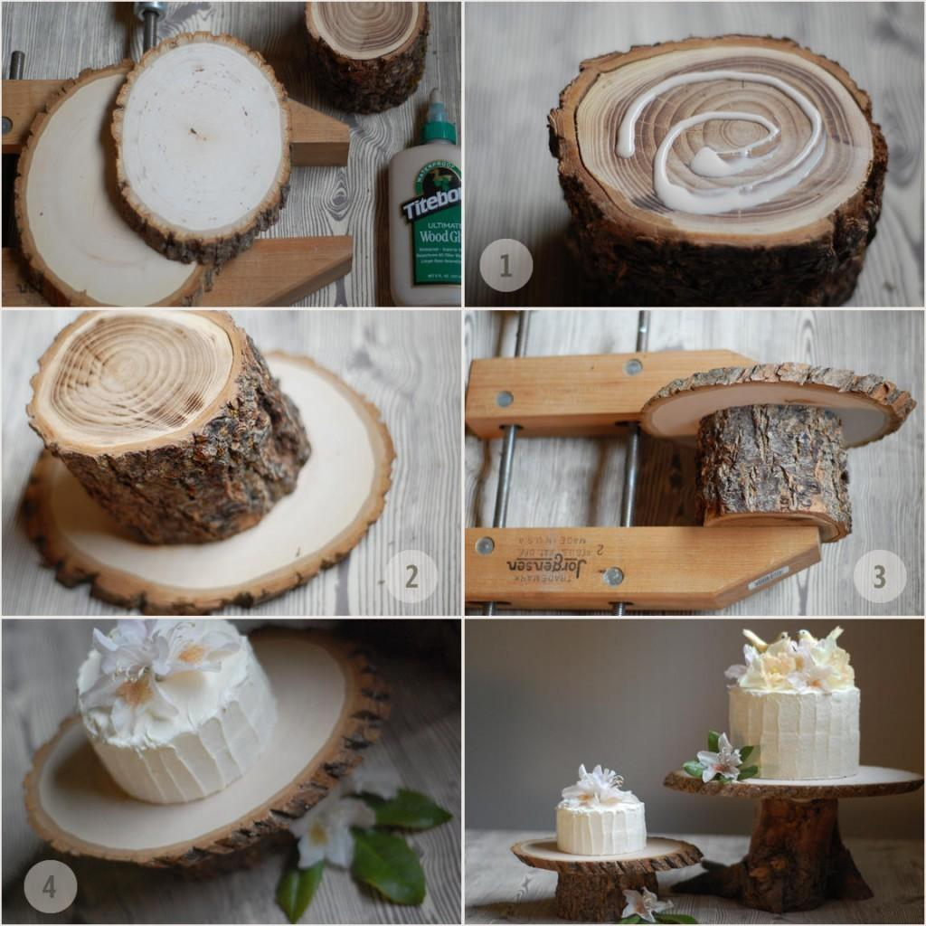 Rustic Cake Stand Diy Baked Joanna