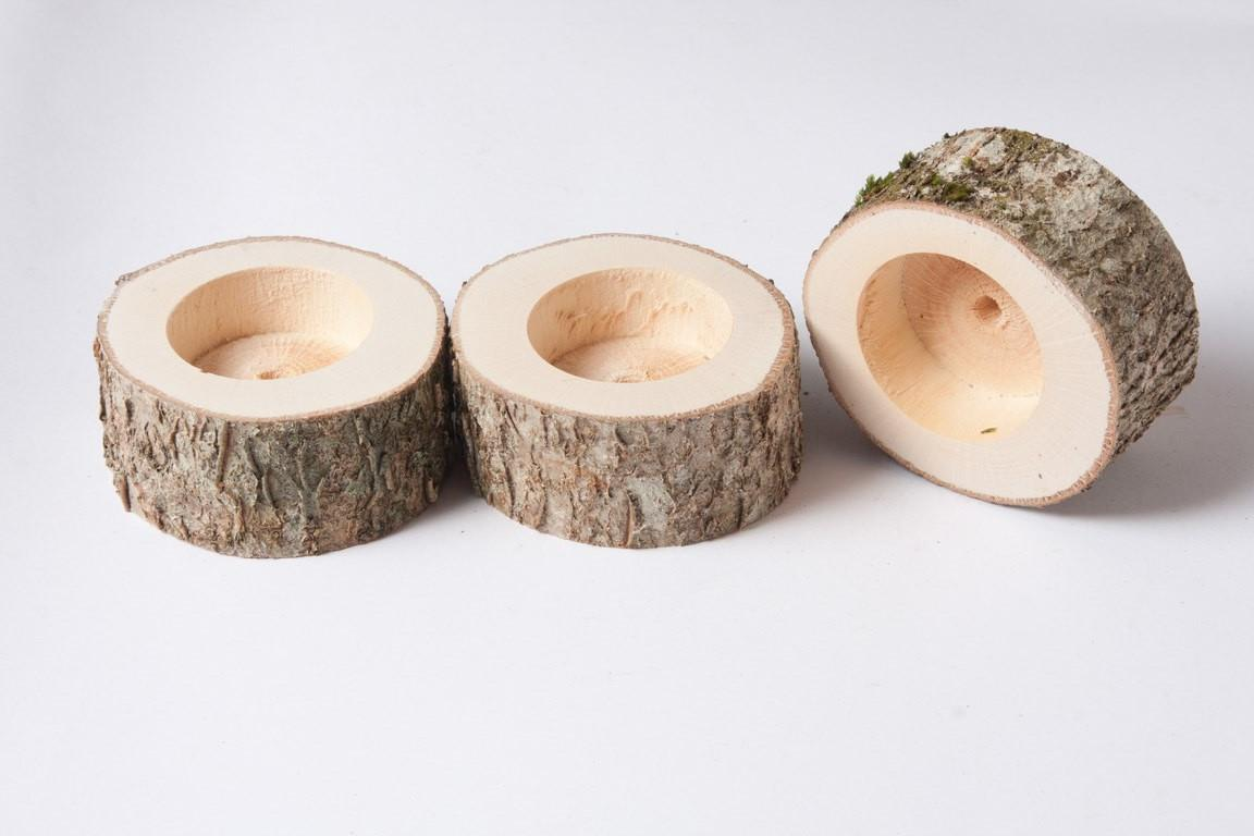 Rustic Candle Holder Tea Light Woodland Wedding