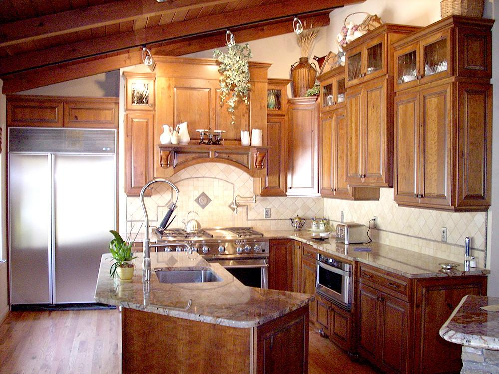 Rustic Cherry Kitchen Remodel After Artistic Kitchens