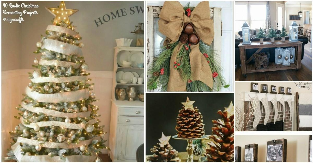 Rustic Christmas Decor Ideas Can Build Yourself