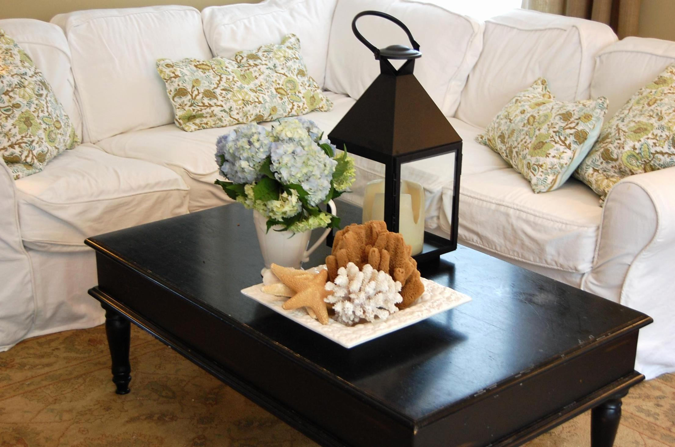 Rustic Coffee Table Decor New Living Room Tabl Candles
