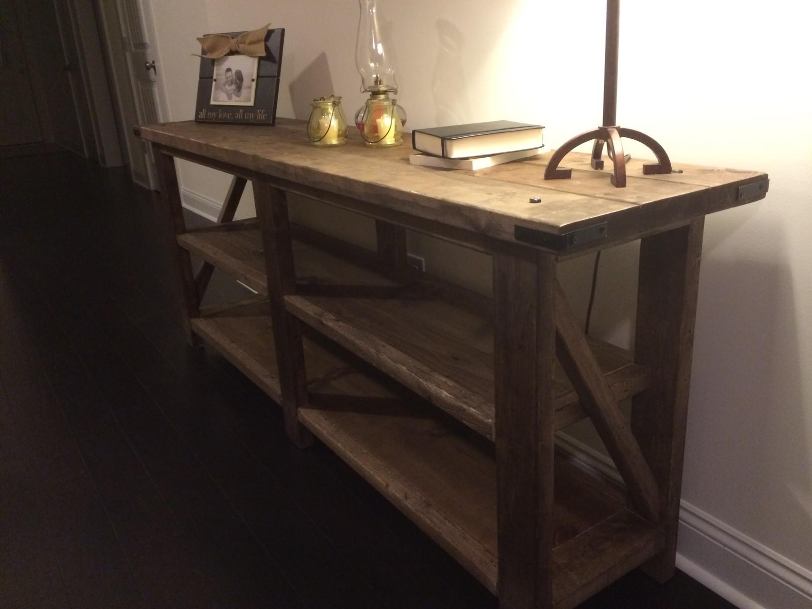 Rustic Console Table Loading First Trends