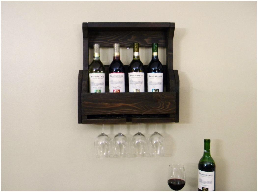 Rustic Decoration Ladder Shelf Wine Rack Modern