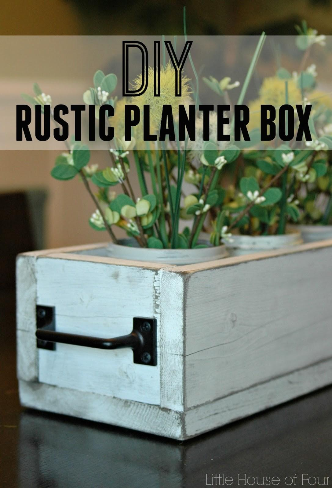 Rustic Dining Table Planter Box Little House Four