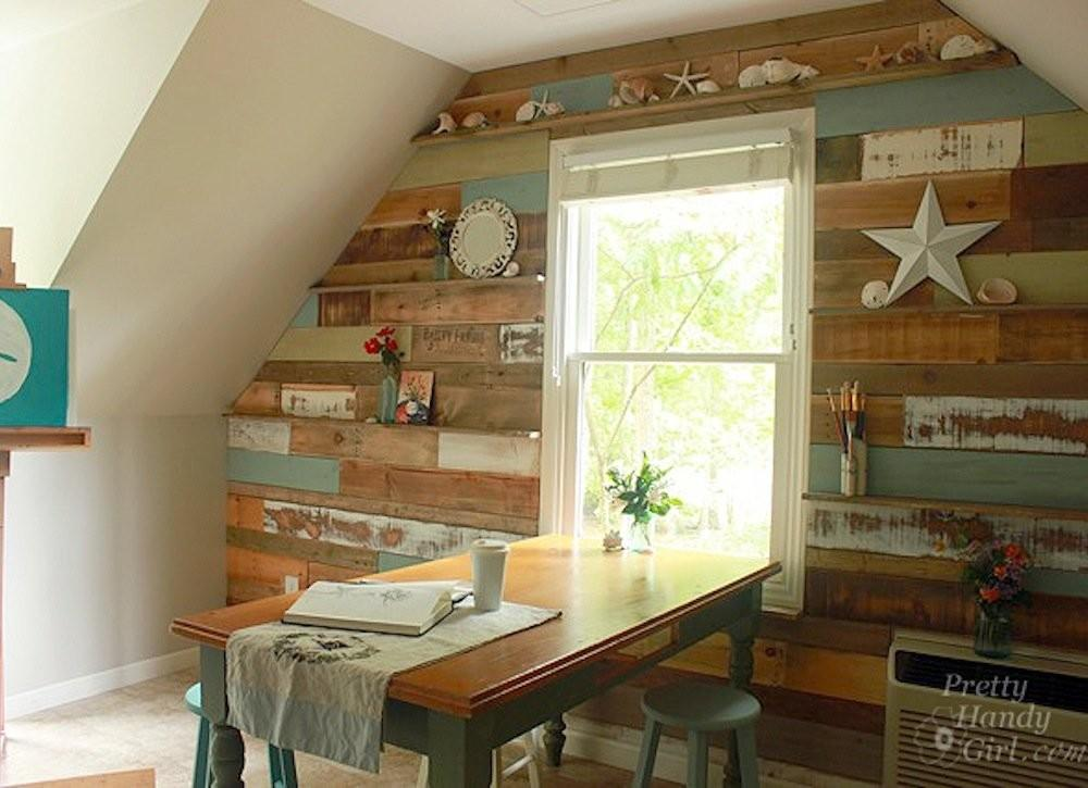 Rustic Diy Accent Wall Scrap Wood Projects Easy Diys