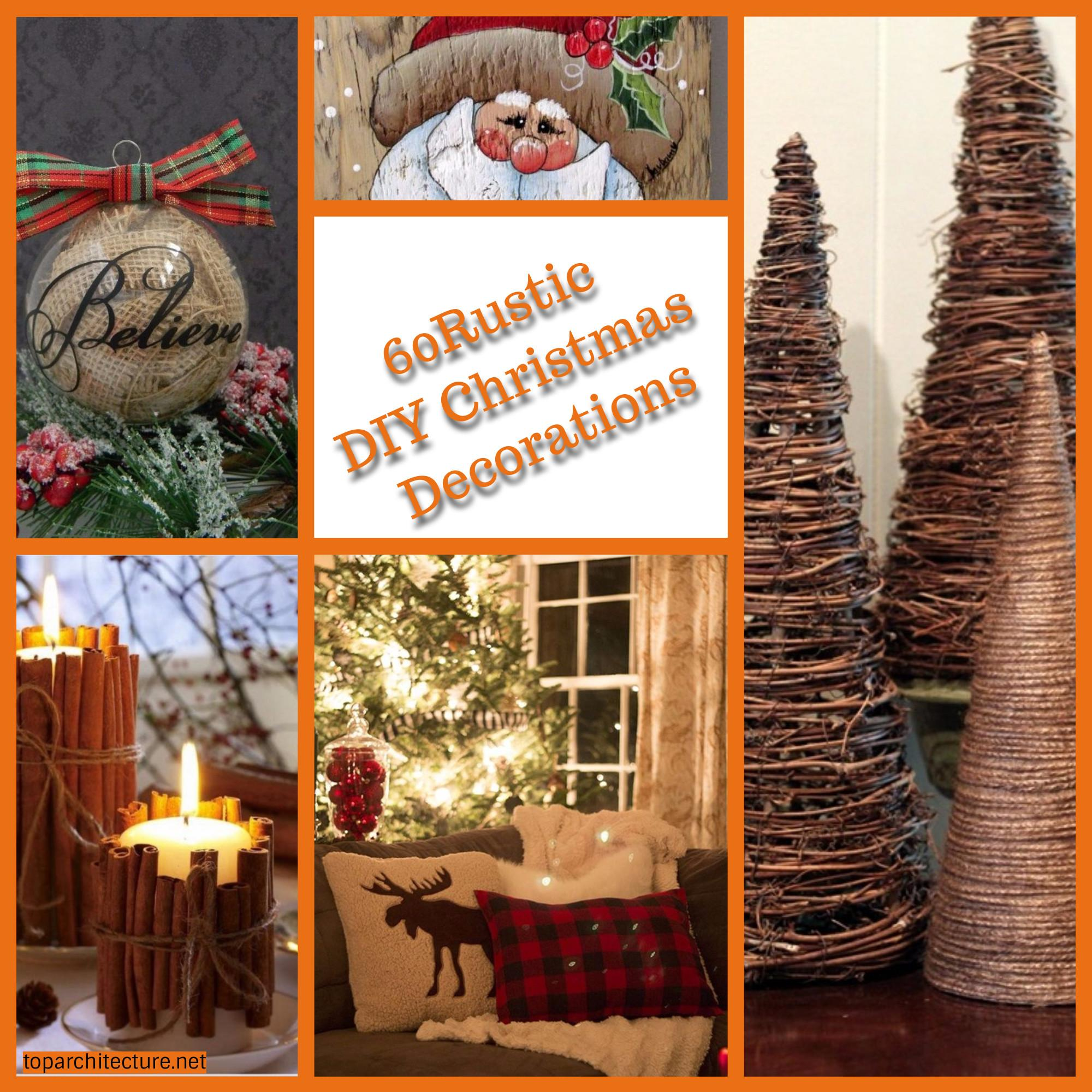 Rustic Diy Christmas Decorations Toparchitecture