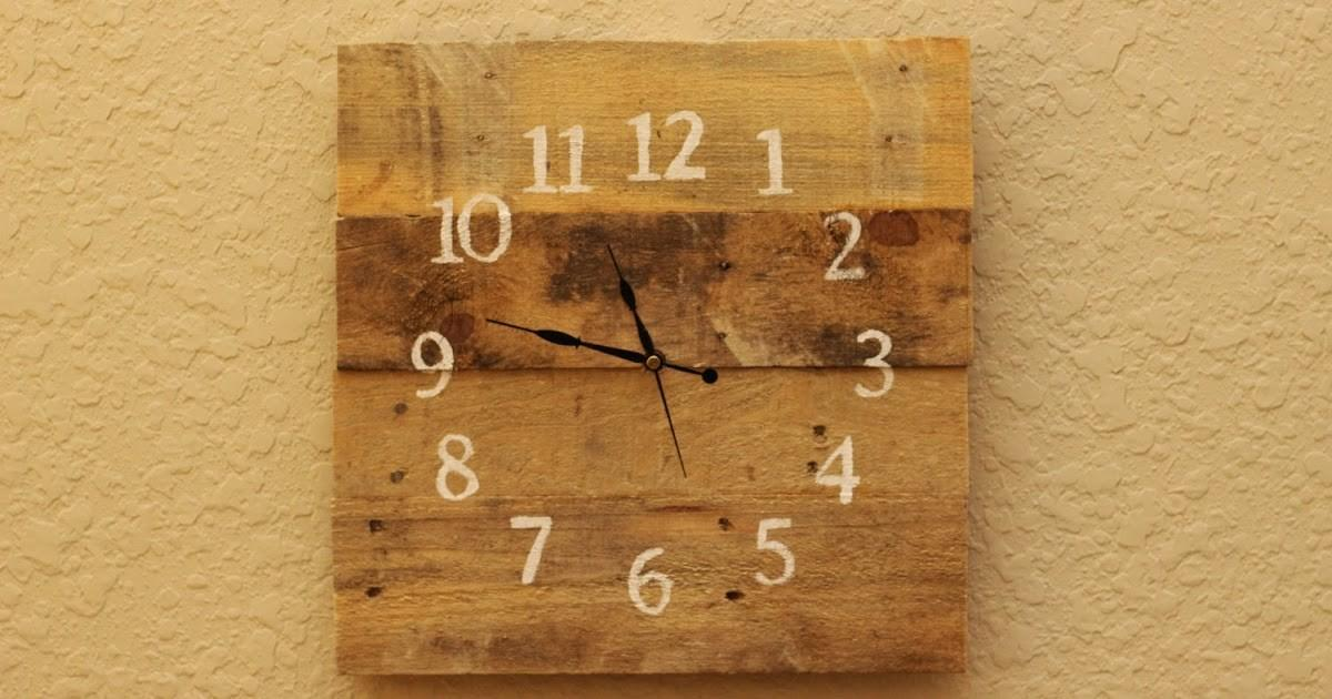 Rustic Diy Projects Pallet Wood Clock