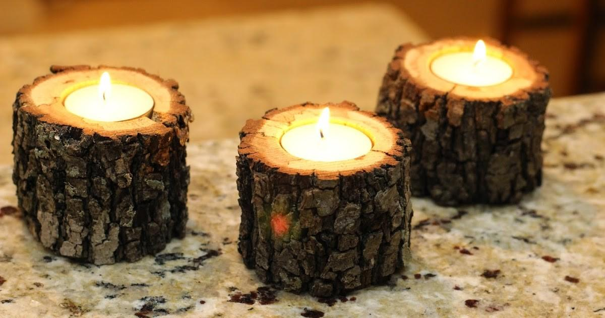 Rustic Diy Projects Tree Branch Tea Light Candle