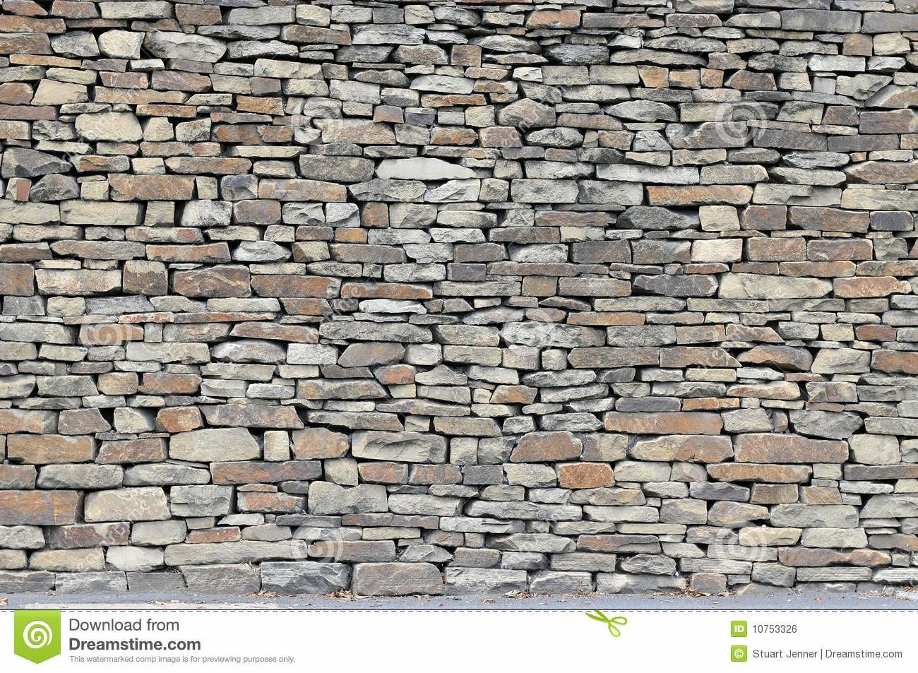 Rustic Dry Stone Wall Stock Stack