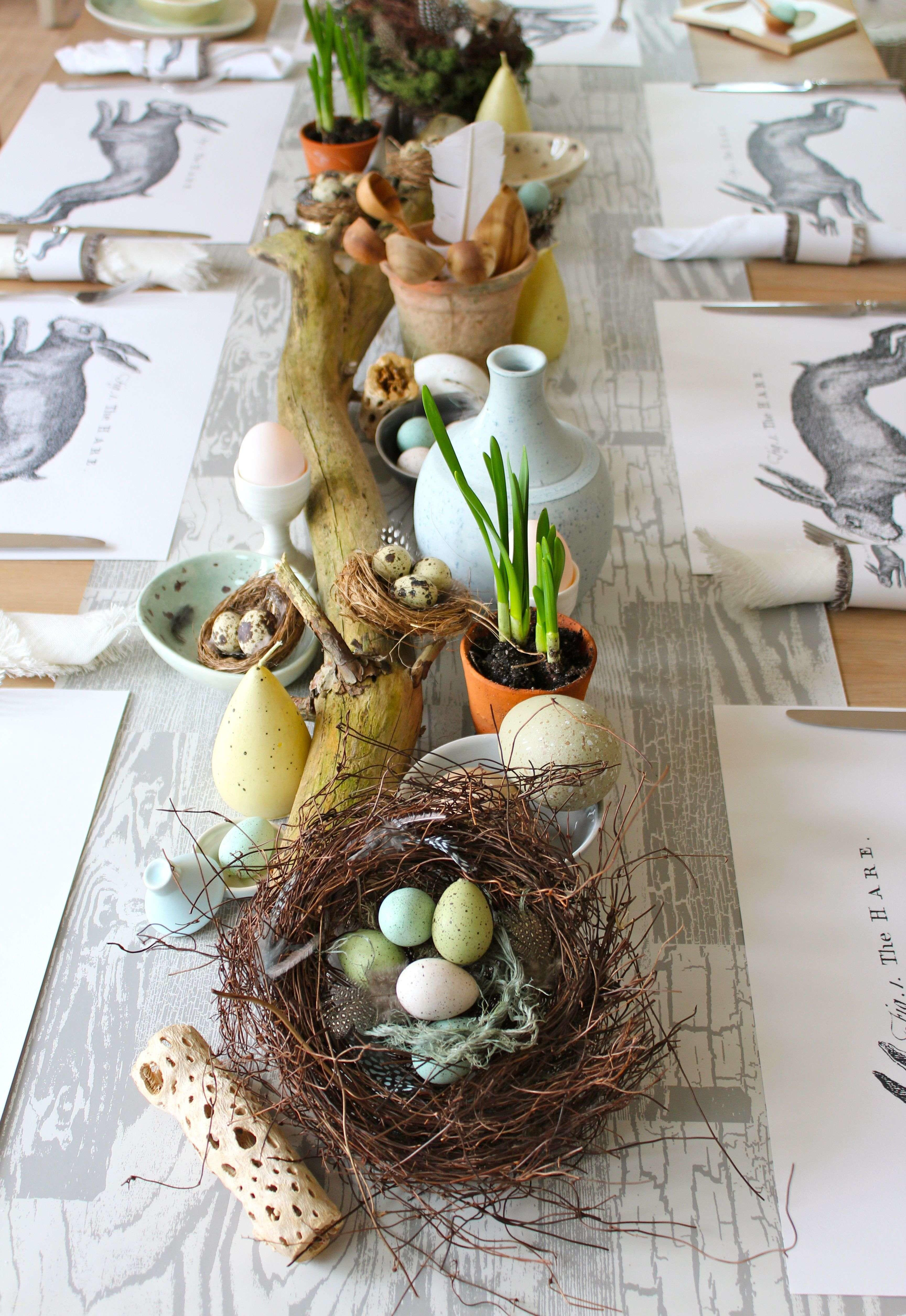 Rustic Easter Table Decorations Elegant Extraordinary
