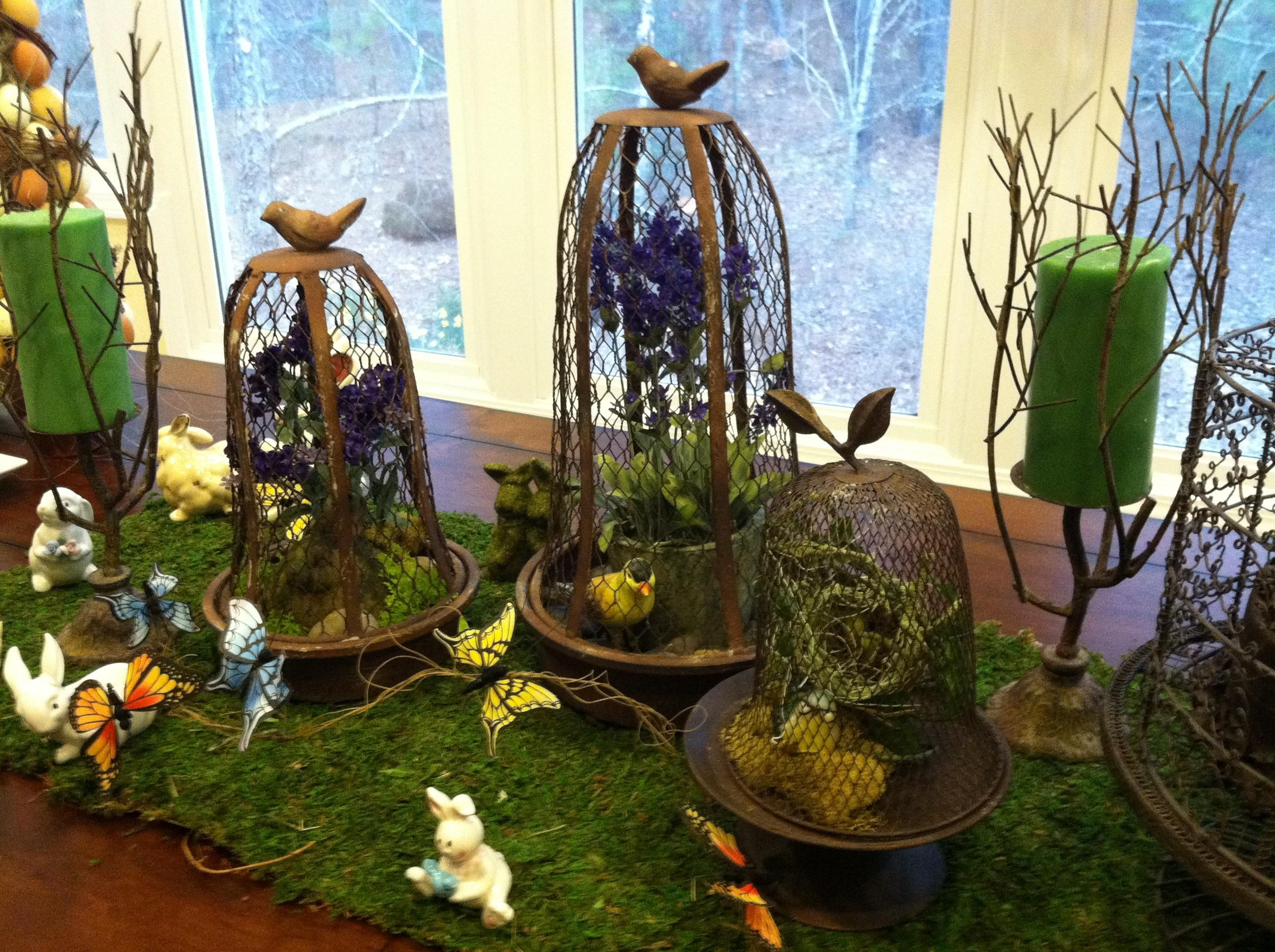 Rustic Easter Table Setting Decor