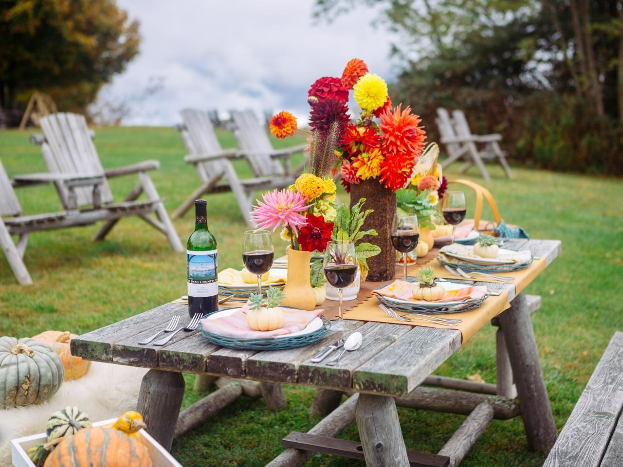 Rustic Fall Table Setting Ideas Outdoor Celebrations
