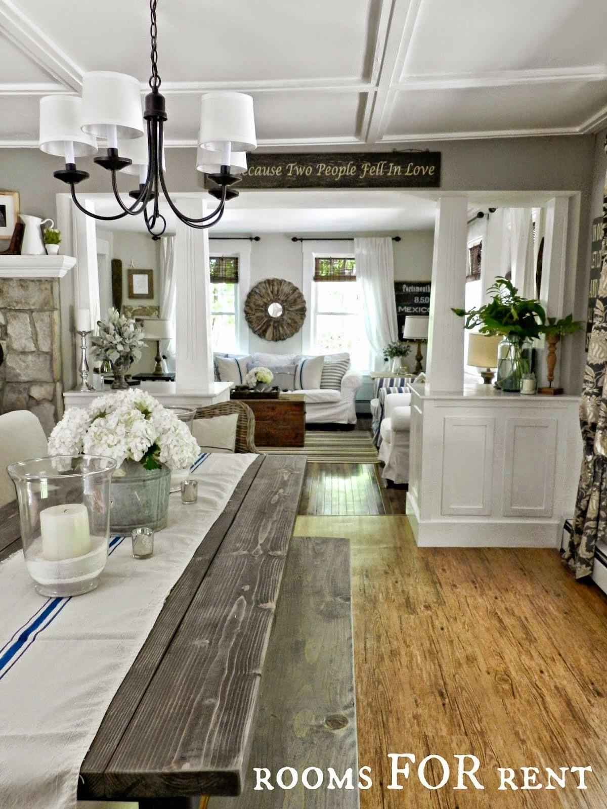 Rustic Farmhouse Country Style Dining Living Room