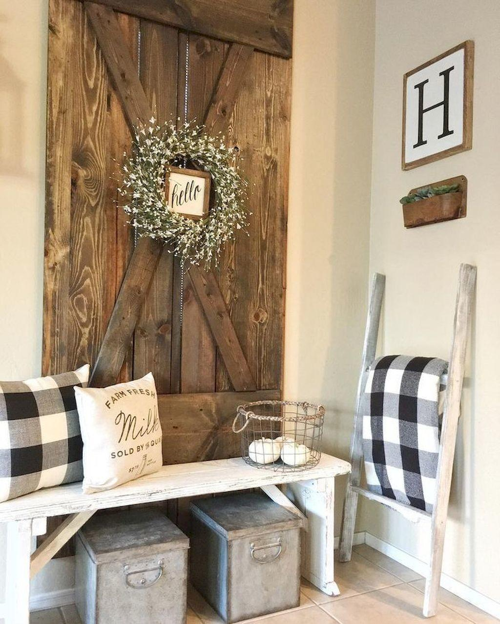 Rustic Farmhouse Entryway Decorating Ideas