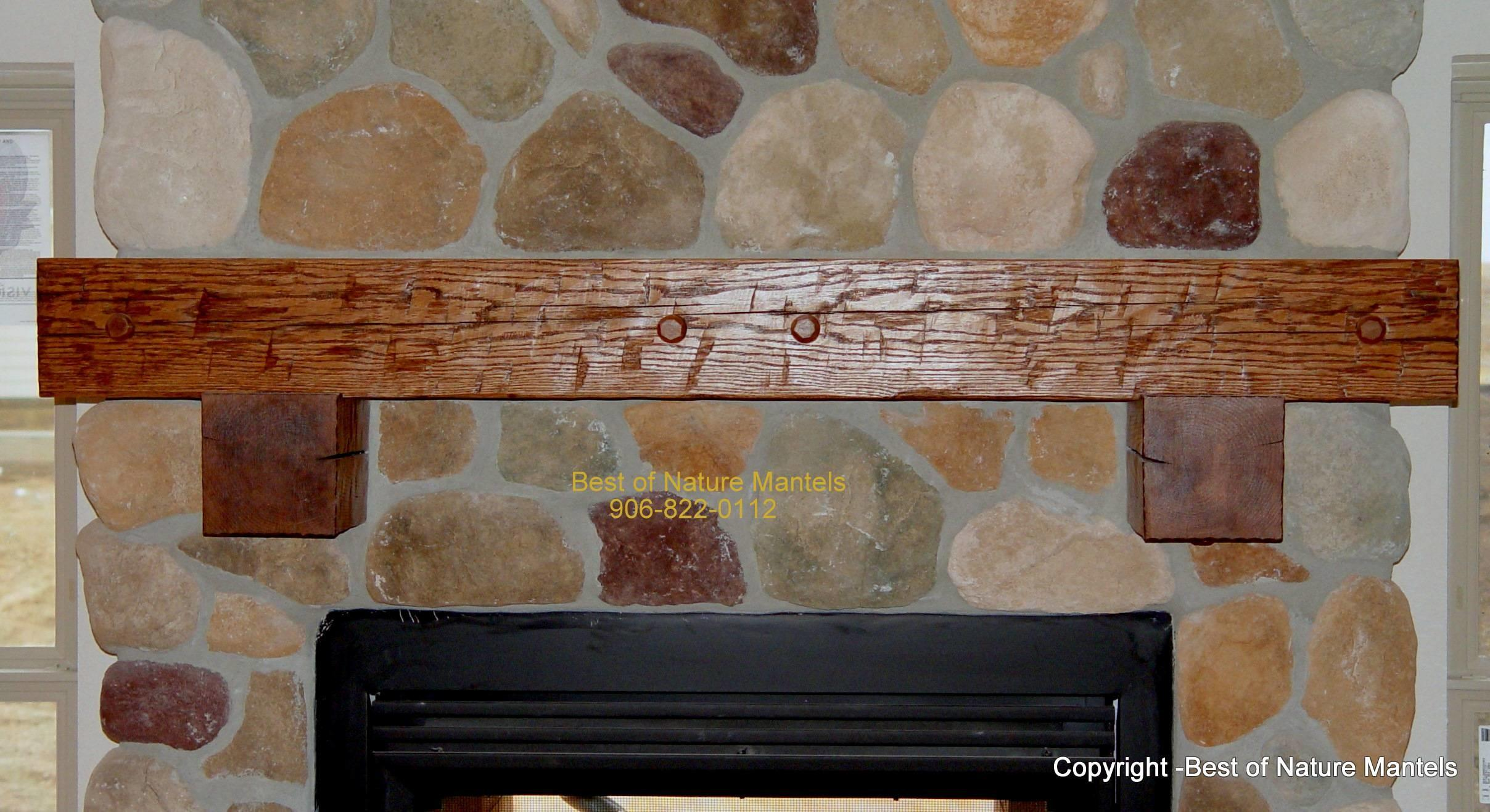 Rustic Fireplace Mantels Surrounds Home