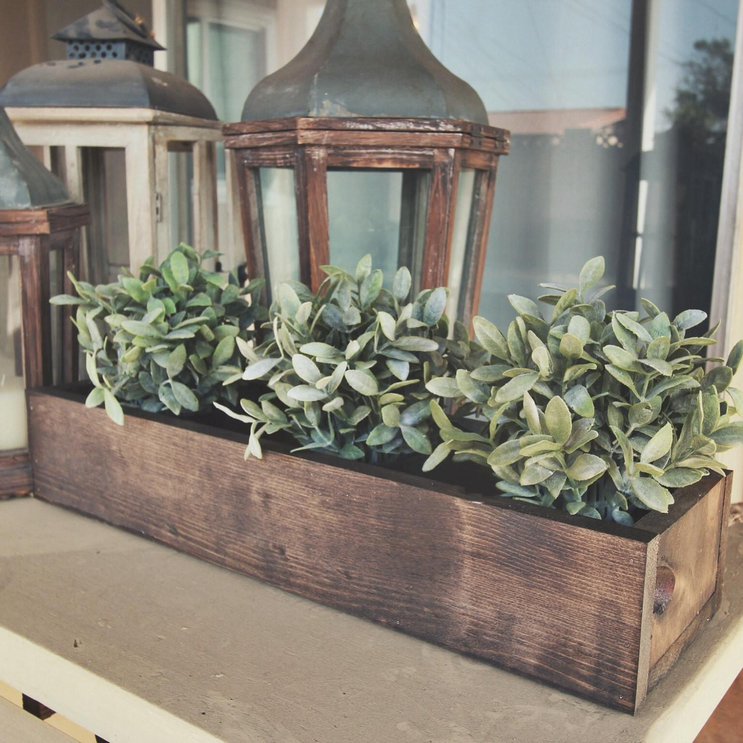 Rustic Flower Box Table Centerpiece Mxowoodworking