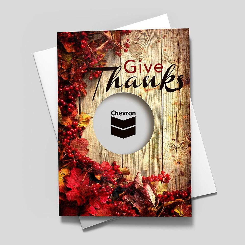 Rustic Give Thanks Thanksgiving Cardsdirect