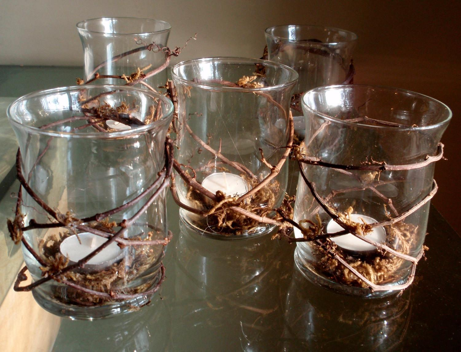 Rustic Grapevine Candle Holders
