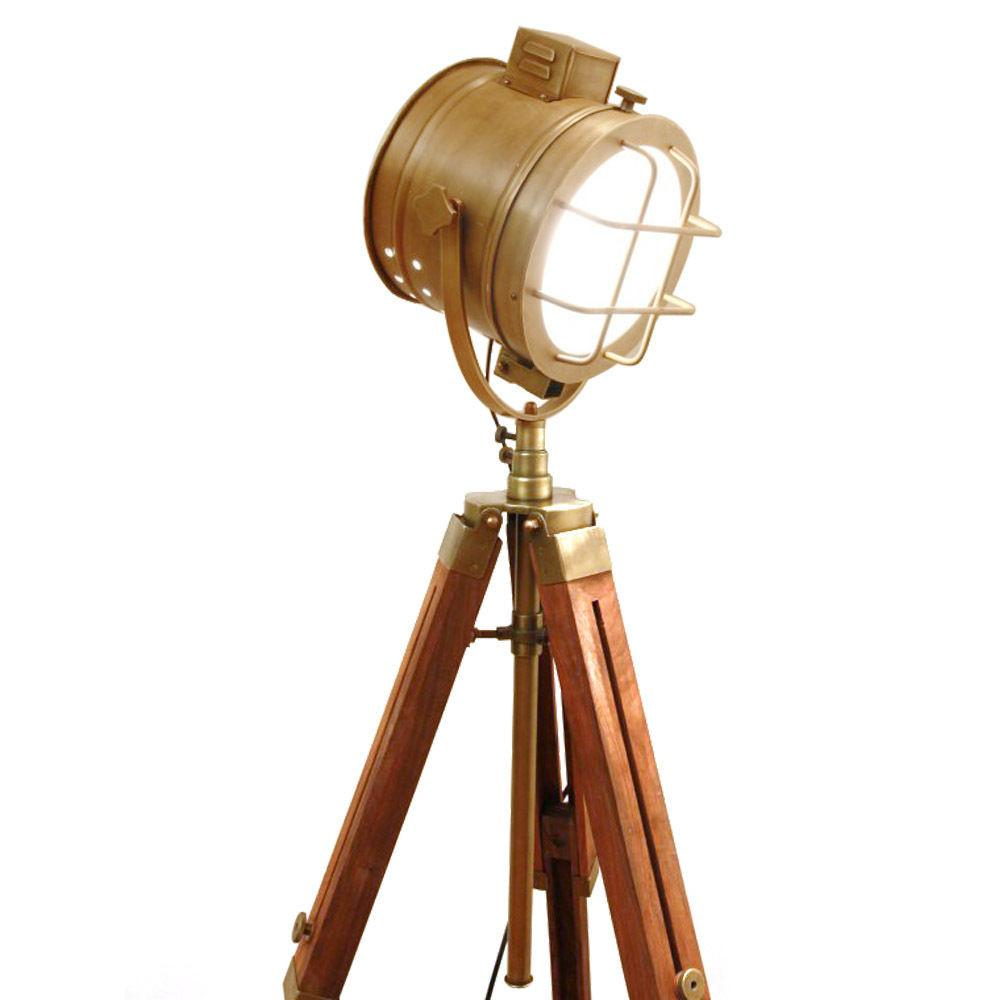 Rustic Hand Made Nautical Tripod Lamp Floor Table Spot