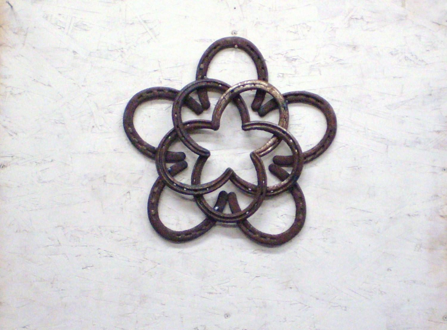 Rustic Horseshoe Star Wreath Indoor Outdoor Home Decor