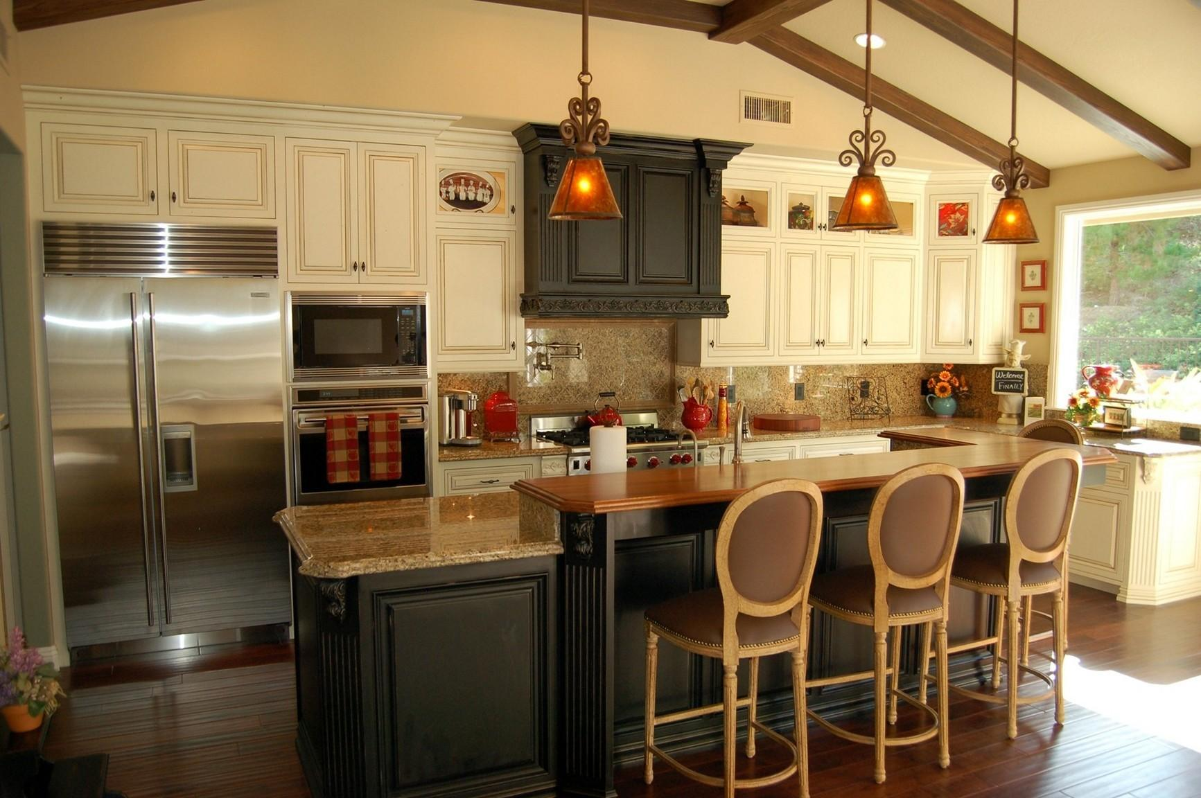 Rustic Kitchen Island Extra Good Looking Accompaniment