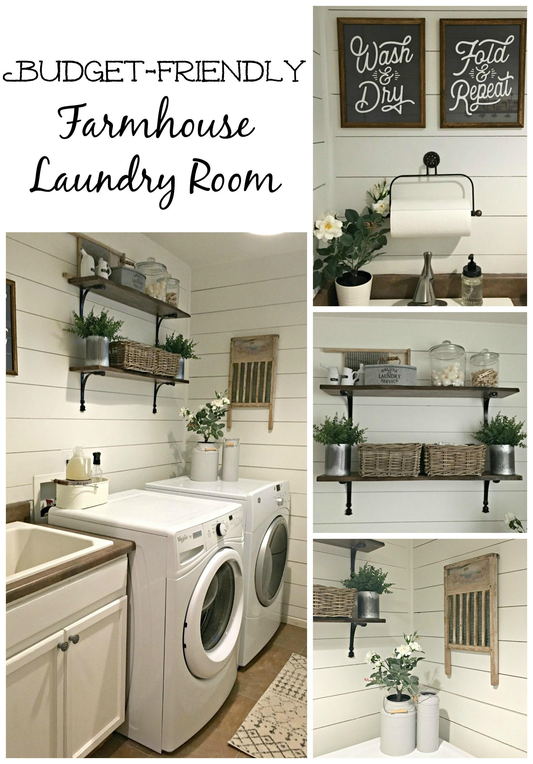 Rustic Laundry Room Reveal Farmhouse Blooms