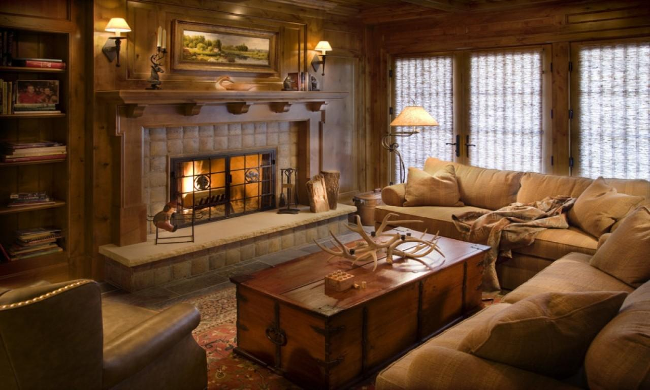 Rustic Living Rooms Traditional Room Decorating