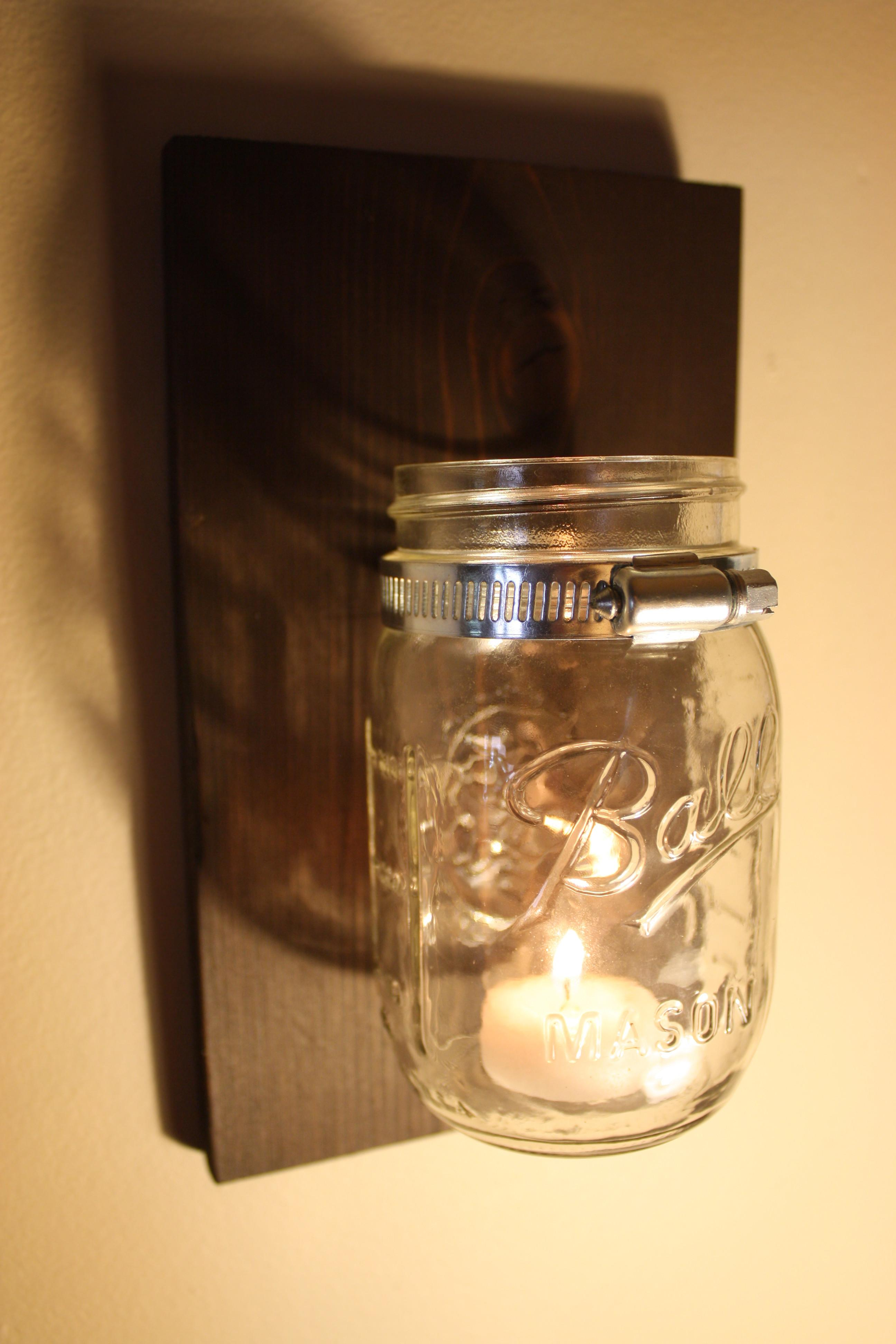 Rustic Mason Jar Candle Holder Salvage Seattle