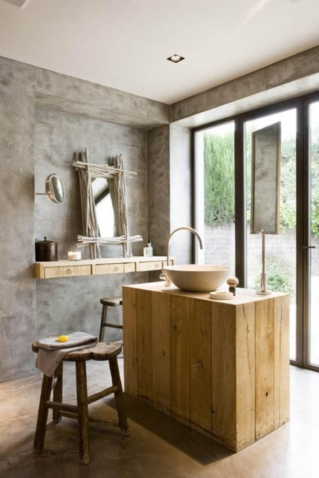 Rustic Modern Bathroom Design Ideas Furniture Home