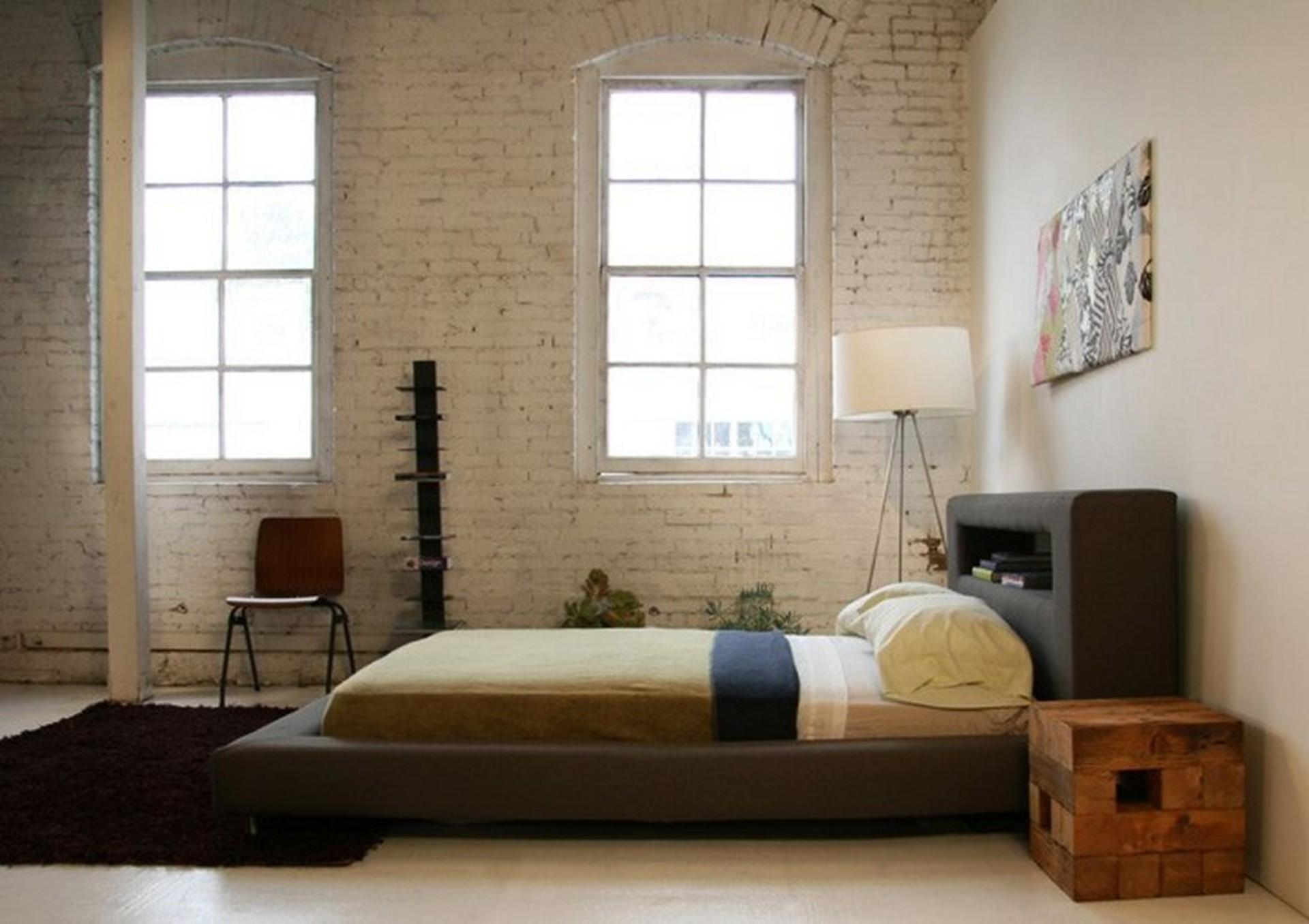 Rustic Modern Low Profile King Bed Frame Leather