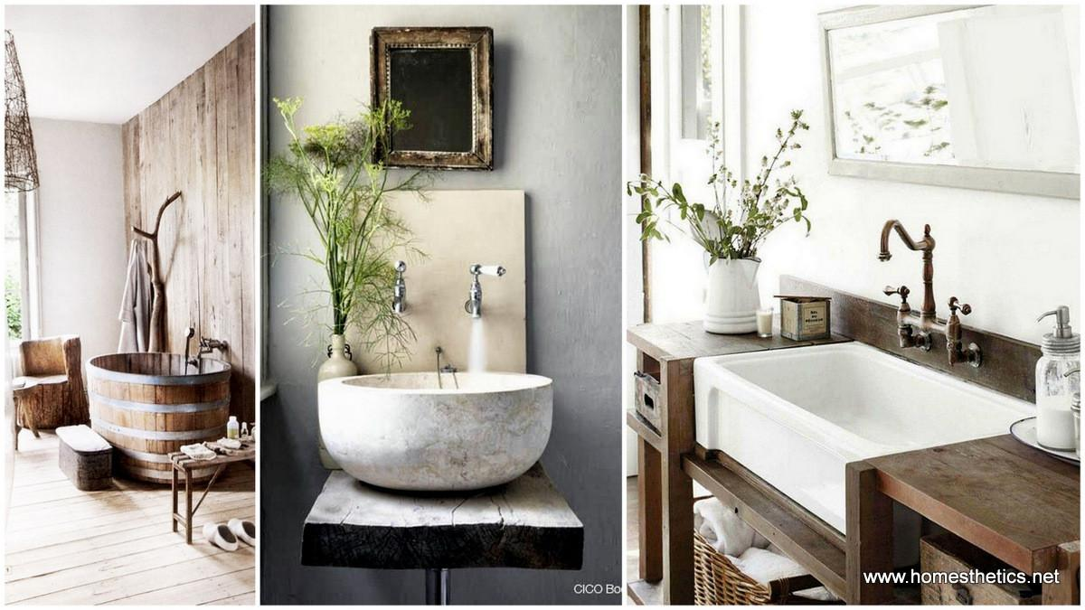 Rustic Natural Bathroom Inspiration Ideas