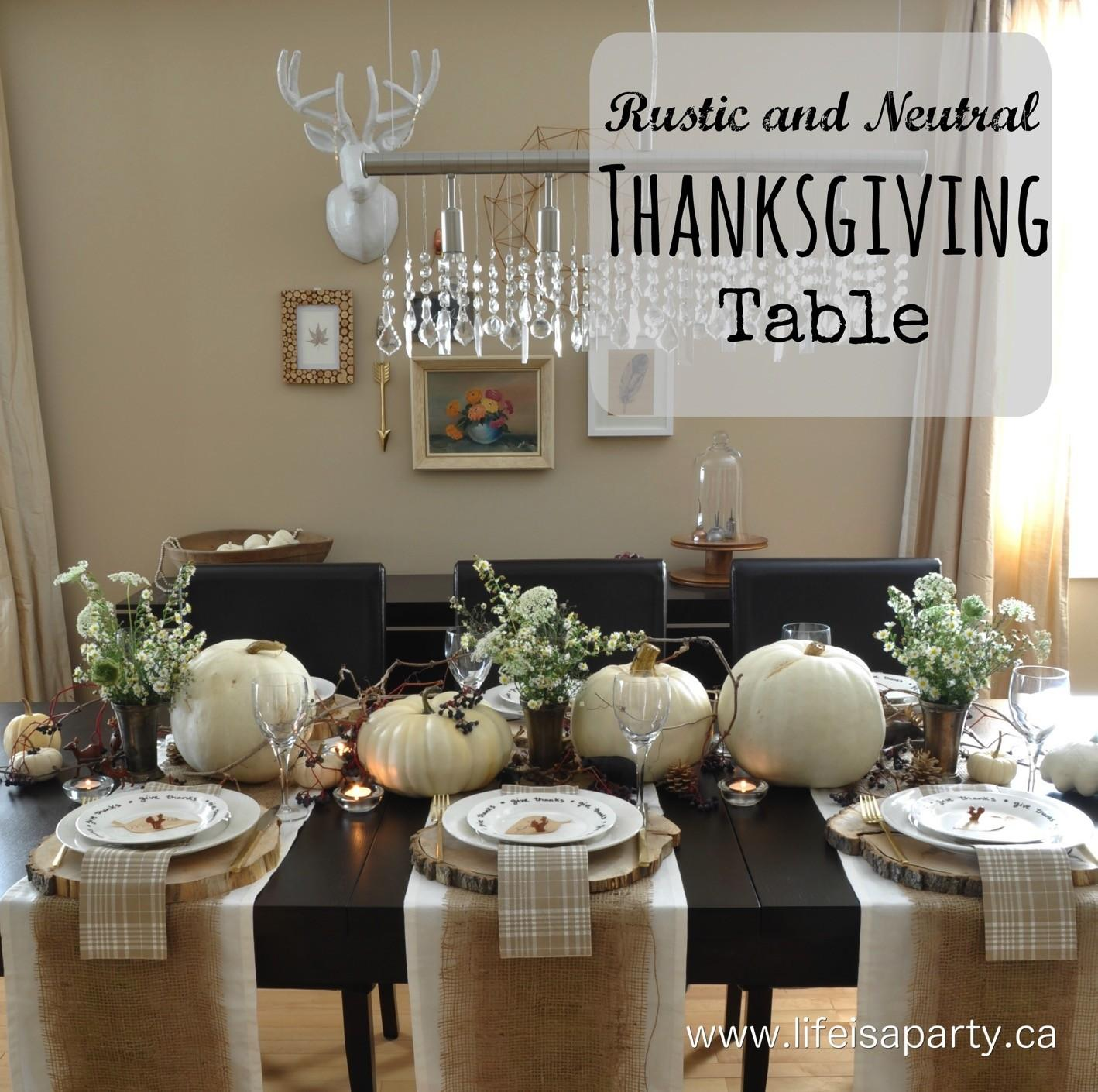 Rustic Neutral Thanksgiving Table Life Party