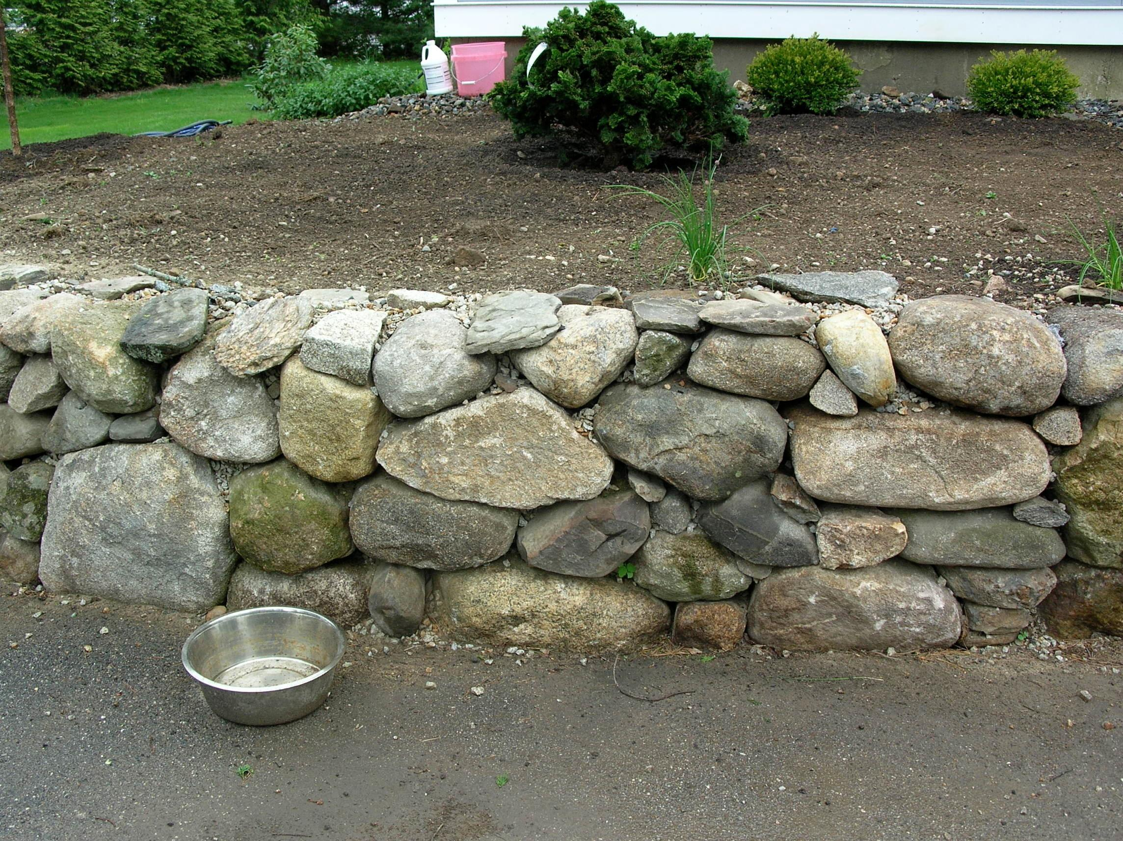 Rustic New England Stone Wall