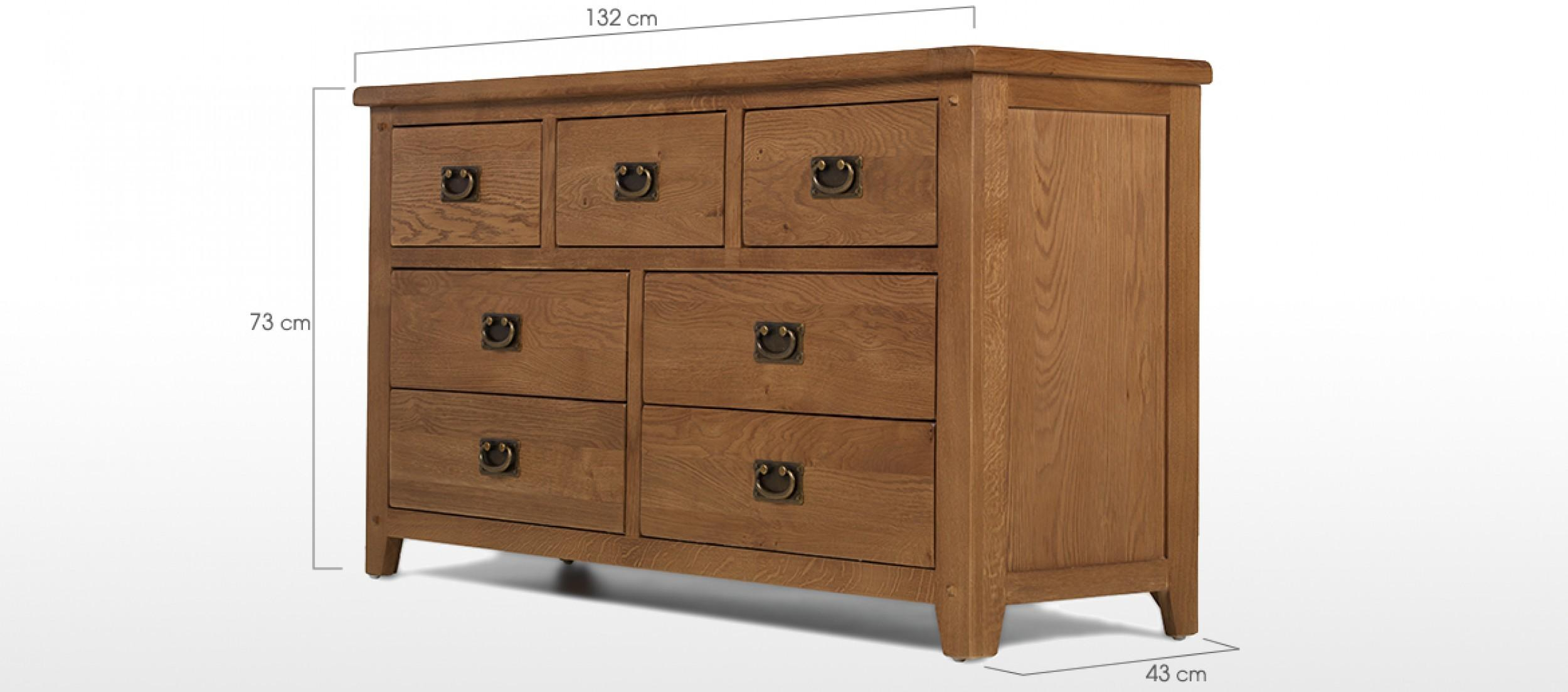 Rustic Oak Drawer Wide Chest Drawers Quercus Living