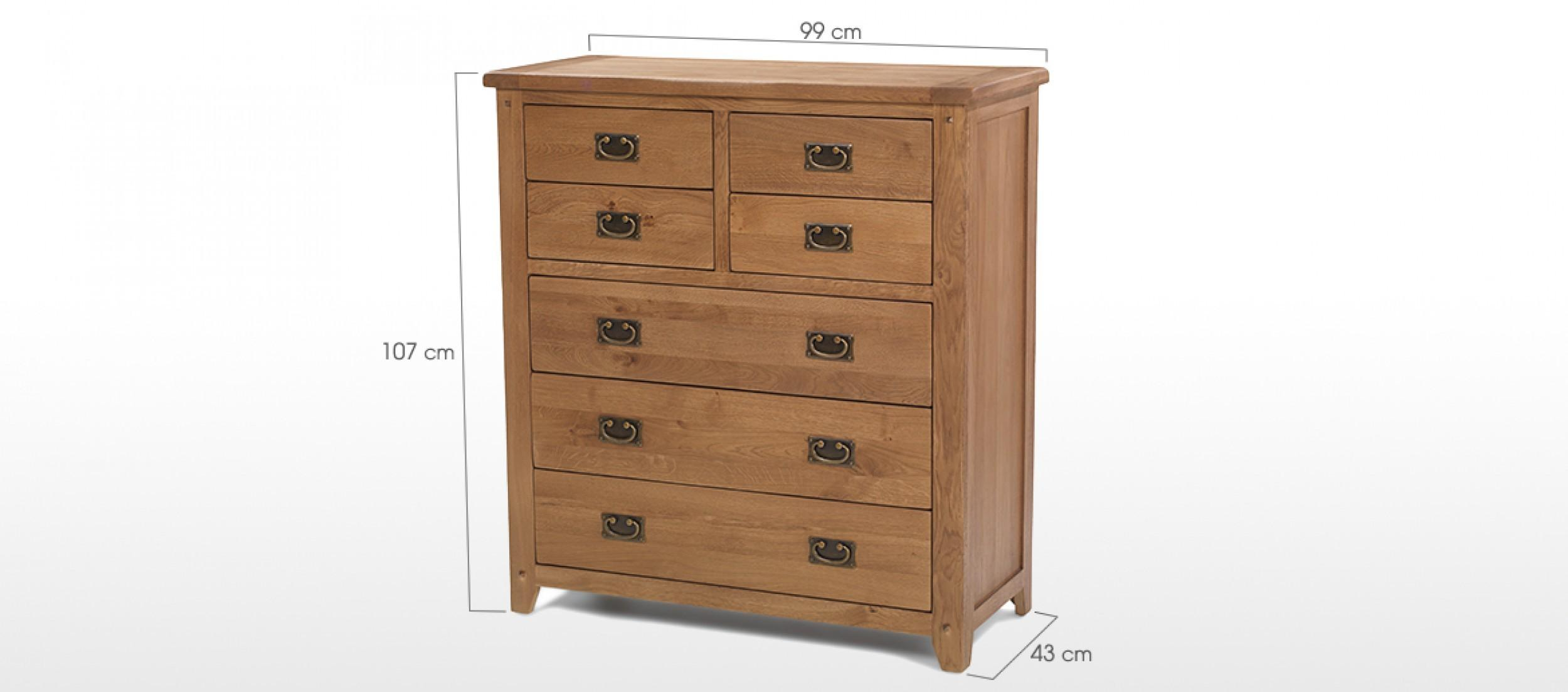 Rustic Oak Over Chest Drawers Quercus Living