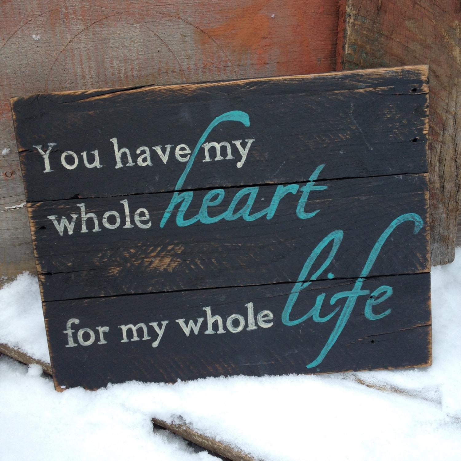 Rustic Painted Pallet Sign Black Quote