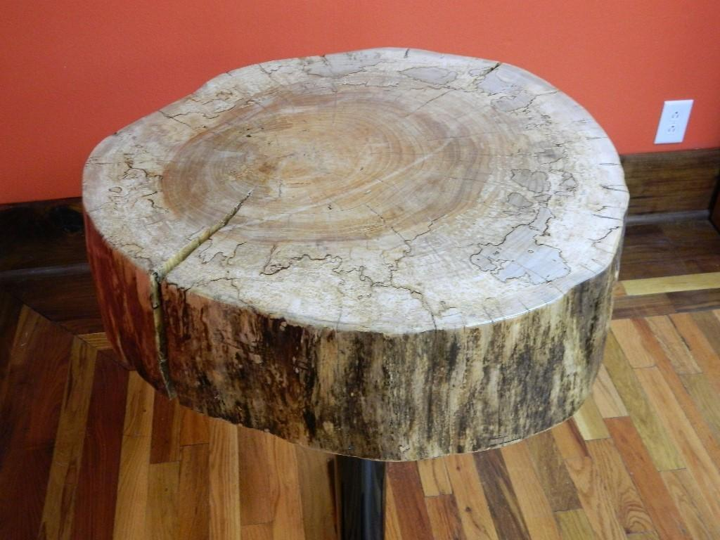 Rustic Reclaimed Maple Circle Cut Tree Log Slice Wood