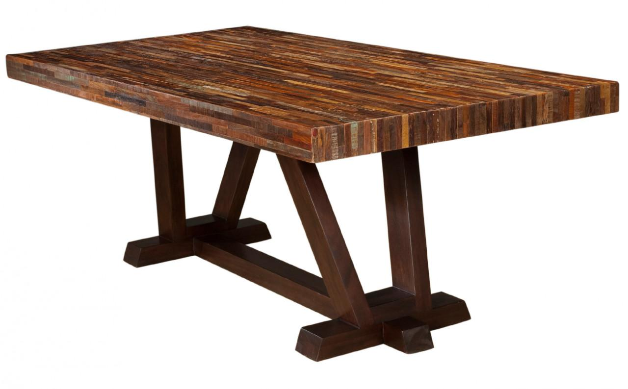 Rustic Reclaimed Wood Bina Max Dining Table Zin Home