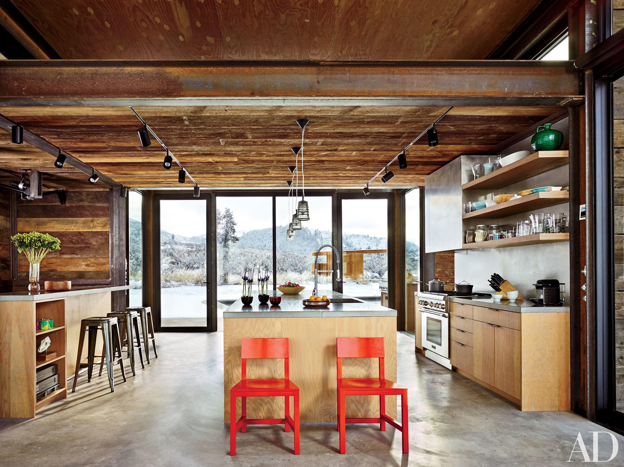 Rustic Reclaimed Wood Interior Photos Architectural Digest